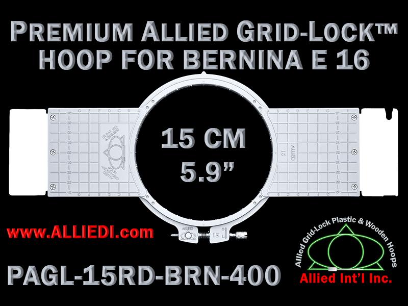 15 cm (5.9 inch) Round Premium Allied Grid-Lock Plastic Embroidery Hoop - Bernina 400