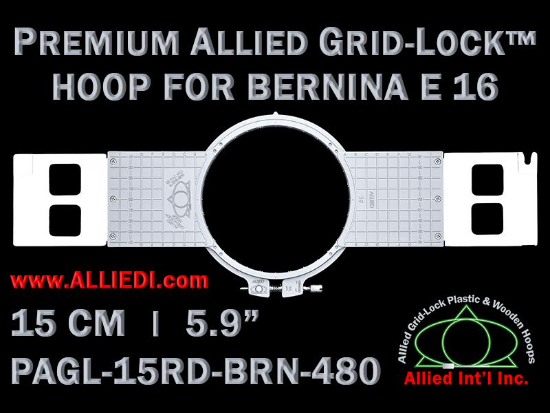 15 cm (5.9 inch) Round Premium Allied Grid-Lock Plastic Embroidery Hoop - Bernina 480
