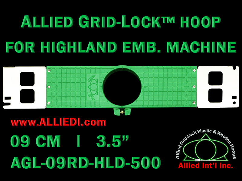 9 cm (3.5 inch) Round Allied Grid-Lock Plastic Embroidery Hoop - Highland 500