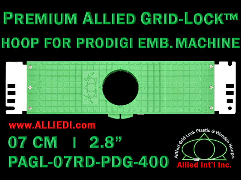 7 cm (2.8 inch) Round Premium Allied Grid-Lock Plastic Embroidery Hoop - Prodigi 400