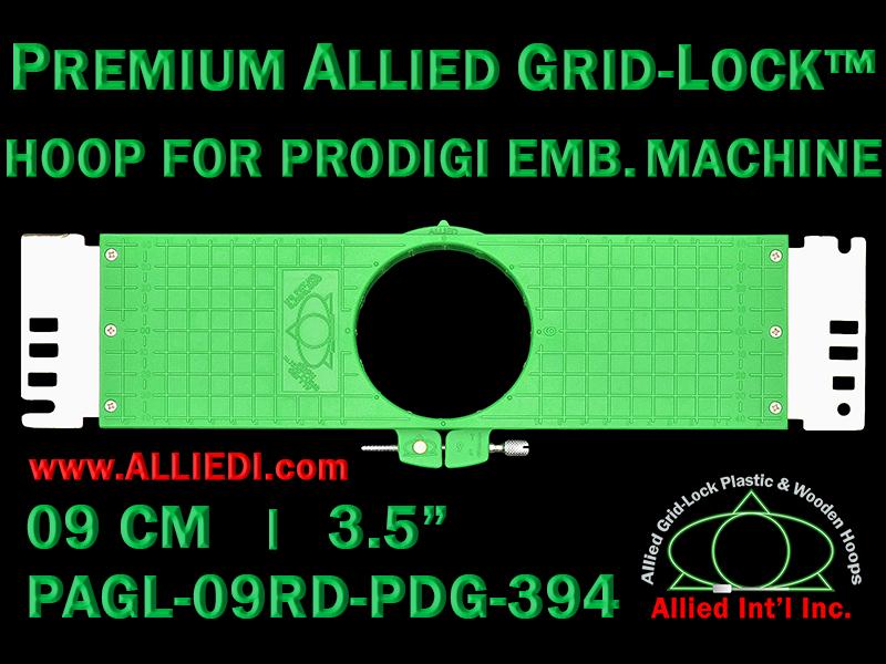 9 cm (3.5 inch) Round Premium Allied Grid-Lock Plastic Embroidery Hoop - Prodigi 394
