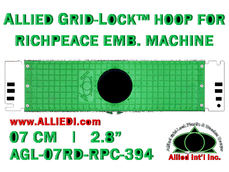 7 cm (2.8 inch) Round Allied Grid-Lock Plastic Embroidery Hoop - Richpeace 394