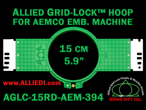 15 cm (5.9 inch) Round Allied Grid-Lock (New Design) Plastic Embroidery Hoop - Aemco 394