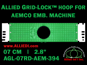 7 cm (2.8 inch) Round Allied Grid-Lock Plastic Embroidery Hoop - Aemco 394
