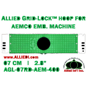 7 cm (2.8 inch) Round Allied Grid-Lock Plastic Embroidery Hoop - Aemco 400