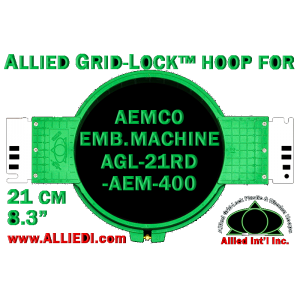 21 cm (8.3 inch) Round Allied Grid-Lock Plastic Embroidery Hoop - Aemco 400
