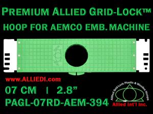 7 cm (2.8 inch) Round Premium Allied Grid-Lock Plastic Embroidery Hoop - Aemco 394