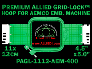 11 x 12 cm (4.5 x 5 inch) Rectangular Premium Allied Grid-Lock Plastic Embroidery Hoop - Aemco 400