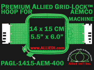 14 x 15 cm (5.5 x 6 inch) Rectangular Premium Allied Grid-Lock Plastic Embroidery Hoop - Aemco 400