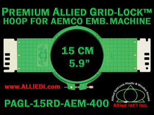 15 cm (5.9 inch) Round Premium Allied Grid-Lock Plastic Embroidery Hoop - Aemco 400