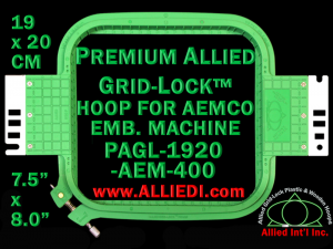 19 x 20 cm (7.5 x 8 inch) Rectangular Premium Allied Grid-Lock Plastic Embroidery Hoop - Aemco 400