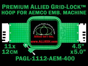 11 x 12 cm (4.5 x 5 inch) Rectangular Premium Allied Grid-Lock Plastic Embroidery Hoop - Aemco 400