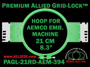 21 cm (8.3 inch) Round Premium Allied Grid-Lock Plastic Embroidery Hoop - Aemco 394