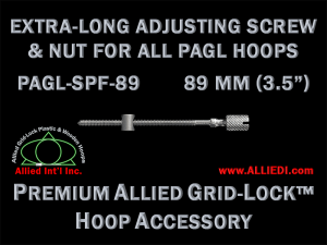 89 mm (3.5 inch) Extra-Long Knurled Hoop Adjusting Screw with Barrel Nut for All Premium Allied Grid-Lock Embroidery Hoops