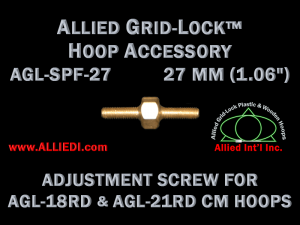 27 mm (1.06 inch) Replacement Hoop Adjustment Thumbscrew for Original Design Standard Version 18 cm, 21 cm Round and 24 x 24 cm Square Allied Grid-Lock Embroidery Hoops