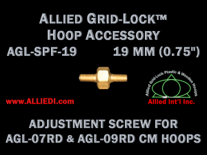19 mm (0.75 inch) Replacement Hoop Adjustment Thumbscrew for Standard Version 07 cm and 09 cm Round Allied Grid-Lock Embroidery Hoops