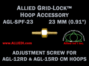 23 mm (0.91 inch) Replacement Hoop Adjustment Thumbscrew for Original Design Standard Version 12 cm and 15 cm Round Allied Grid-Lock Embroidery Hoops