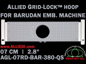 7 cm (2.8 inch) Round Allied Grid-Lock Plastic Embroidery Hoop - Barudan 380 QS