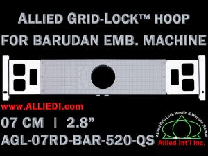 7 cm (2.8 inch) Round Allied Grid-Lock Plastic Embroidery Hoop - Barudan 520 QS