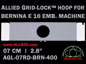 7 cm (2.8 inch) Round Allied Grid-Lock Plastic Embroidery Hoop - Bernina 400