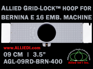9 cm (3.5 inch) Round Allied Grid-Lock Plastic Embroidery Hoop - Bernina 400
