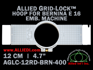12 cm (4.7 inch) Round Allied Grid-Lock (New Design) Plastic Embroidery Hoop - Bernina 400