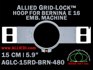 15 cm (5.9 inch) Round Allied Grid-Lock (New Design) Plastic Embroidery Hoop - Bernina 480