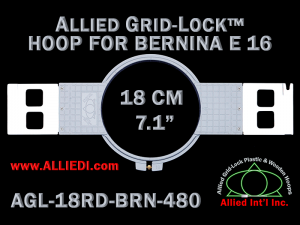 18 cm (7.1 inch) Round Allied Grid-Lock Plastic Embroidery Hoop - Bernina 480