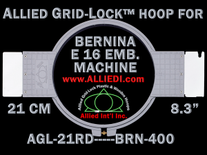 21 cm (8.3 inch) Round Allied Grid-Lock Plastic Embroidery Hoop - Bernina 400