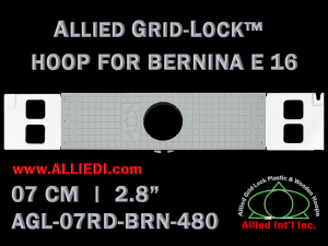 7 cm (2.8 inch) Round Allied Grid-Lock Plastic Embroidery Hoop - Bernina 480