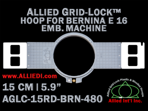 15 cm (5.9 inch) Round Allied Grid-Lock (New Design) Plastic Embroidery Hoop - Bernina 480