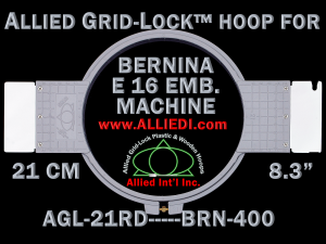 21 cm (8.3 inch) Round Allied Grid-Lock Plastic Embroidery Hoop - Bernina 400