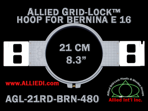21 cm (8.3 inch) Round Allied Grid-Lock Plastic Embroidery Hoop - Bernina 480