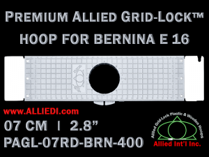 7 cm (2.8 inch) Round Premium Allied Grid-Lock Plastic Embroidery Hoop - Bernina 400