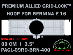 9 cm (3.5 inch) Round Premium Allied Grid-Lock Plastic Embroidery Hoop - Bernina 400