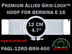 12 cm (4.7 inch) Round Premium Allied Grid-Lock Plastic Embroidery Hoop - Bernina 400