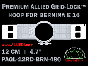 12 cm (4.7 inch) Round Premium Allied Grid-Lock Plastic Embroidery Hoop - Bernina 480