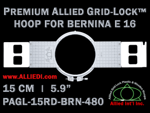 15 cm (5.9 inch) Round Premium Allied Grid-Lock Plastic Embroidery Hoop - Bernina 480