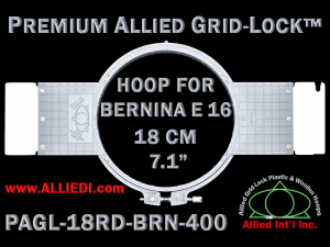 18 cm (7.1 inch) Round Premium Allied Grid-Lock Plastic Embroidery Hoop - Bernina 400