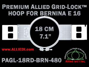18 cm (7.1 inch) Round Premium Allied Grid-Lock Plastic Embroidery Hoop - Bernina 480