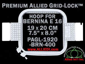 19 x 20 cm (7.5 x 8 inch) Rectangular Premium Allied Grid-Lock Plastic Embroidery Hoop - Bernina 400
