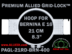 21 cm (8.3 inch) Round Premium Allied Grid-Lock Plastic Embroidery Hoop - Bernina 400