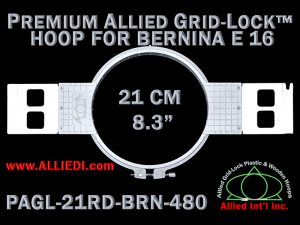 21 cm (8.3 inch) Round Premium Allied Grid-Lock Plastic Embroidery Hoop - Bernina 480