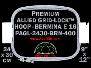 24 x 30 cm (9 x 12 inch) Rectangular Premium Allied Grid-Lock Plastic Embroidery Hoop - Bernina 400