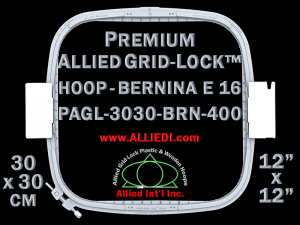30 x 30 cm (12 x 12 inch) Square Premium Allied Grid-Lock Plastic Embroidery Hoop - Bernina 400
