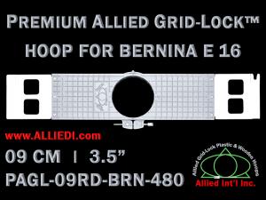 9 cm (3.5 inch) Round Premium Allied Grid-Lock Plastic Embroidery Hoop - Bernina 480