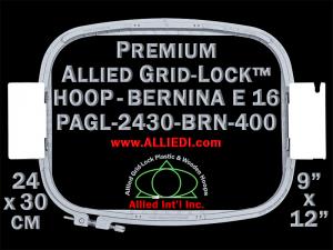 24 x 30 cm (9 x 12 inch) Rectangular Premium Allied Grid-Lock Plastic Embroidery Hoop - Bernina 400
