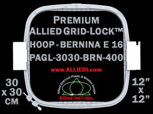 30 x 30 cm (12 x 12 inch) Square Premium Allied Grid-Lock Plastic Embroidery Hoop - Bernina 400