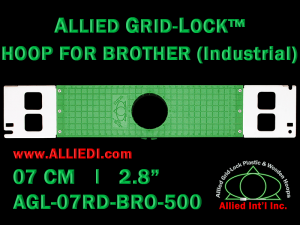 Brother 7 cm (2.8 inch) Round Allied Grid-Lock Embroidery Hoop for 500 mm Sew Field / Arm Spacing