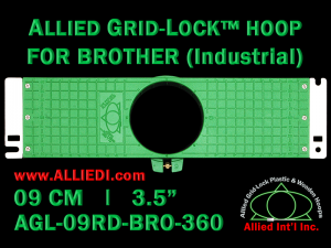 9 cm (3.5 inch) Round Allied Grid-Lock Plastic Embroidery Hoop - Brother 360
